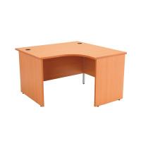 Jemini Beech Right Hand Panel End Radial Desk 1200mm KF838060