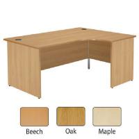 Jemini Beech Right Hand Panel End Radial Desk 1600mm KF838066