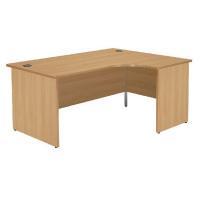Jemini Oak Right Hand Panel End Radial Desk 1600mm KF838067