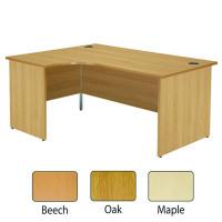 Jemini Beech Left Hand Panel End Radial Desk 1800mm KF838069