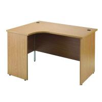 Jemini Oak Left Hand Panel End Radial Desk 1800mm KF838070