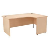 Jemini Maple Right Hand Panel End Radial Desk 1800mm KF838074