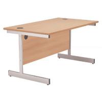 Jemini Beech 1200mm Rectangular Cantilever Desk KF838075