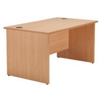 Jemini Beech 1600mm Panel End Rectangular Desk KF838087