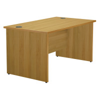 Jemini Oak 1600mm Panel End Rectangular Desk KF838088