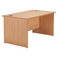 Jemini Beech 1800mm Panel End Rectangular Desk KF838090