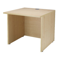 Jemini Intro Warm Maple 800mm Reception Desk KF838405
