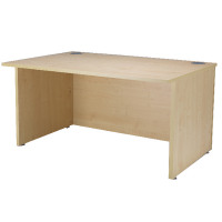 Jemini Intro Warm Maple 1600mm Reception Desk KF838407