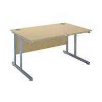Jemini Intro 1200mm Rectangular Cantilever Desk Ferrera Oak KF838515