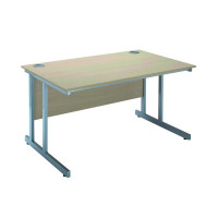 Jemini Intro 1200mm Rectangular Cantilever Desk Warm Maple KF838516