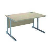 Jemini Intro 1500mm Rectangular Cantilever Desk Warm Maple KF838519