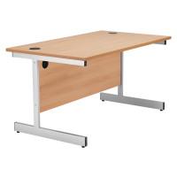 FF Jemini Rectangular Desk Cantilever 1400mm Beech KF838782