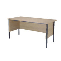 Jemini Intro 4 Leg Desk 1800mm Warm Maple KF838785