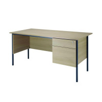 Jemini Intro 4 Leg Desk 1800mm With 2 Drawer Pedestal Warm Maple KF838791