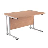 First Rectangular Cantilever Desk 1400mm Oak KF838931