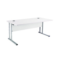 First Rectangular Cantilever Desk 1400mm White KF838932