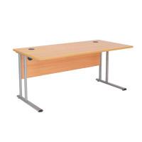First Rectangular Cantilever Desk 1600mm Beech KF838933