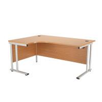 First Radial Left Hand Cantilever Desk 1600mm Oak KF838941