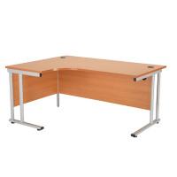 First Radial Left Hand Cantilever Desk 1800mm Beech KF838945