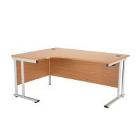 First Radial Left Hand Cantilever Desk 1800mm Oak KF838947