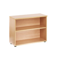 First 730mm Bookcase 1 Shelf Beech KF839198