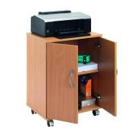 Jemini Intro Mobile PC Printer Stand Beech KF97101