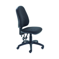 First High Back Operators Chair Charcoal (Back height and angle is adjustable, can be fixed) KF98507