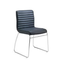 First Meeting Chair Black PU Chrome Base (Recommended sitting time: 5 hours) KF98508