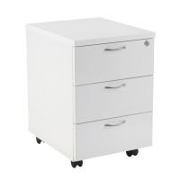 First Mobile Under Desk Pedestal 3 Drawer White KF98510