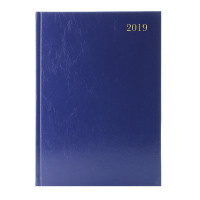 A4 Day/Page 2019 Blue Desk Diary KFA41BU19