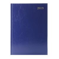 A4 2 Days Per Page 2019 Blue Desk Diary KFA42BU19