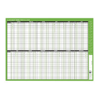 Q-Connect Staff Planner Mounted 855x610mm 2019 KFSPM19
