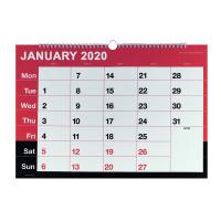 Wirebound Monthly Calendar A3 2020 KFYC2320