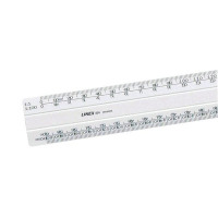 White 30cm Linex Flat Scale Ruler 1:1-500 (Comes with colour coded inserts for ease of use) LXH 433