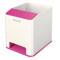 Leitz WOW Sound Booster Pen Holder White/Pink 53631023