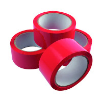 Polypropylene Tape 50mmx66m Red (Pack of 6) APPR-500066-LN
