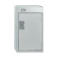 One Compartment Quarto Locker D300mm Light Grey Door MC00074