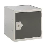 One Compartment Cube Locker D300mm Dark Grey Door MC00087