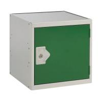One Compartment Cube Locker D300mm Green Door MC00088