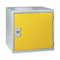 One Compartment Cube Locker D300mm Yellow Door MC00090