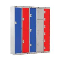 Express Standard Locker 1 Door W300xD300xH1800mm Light Grey/Blue MC00136