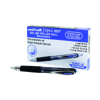 Uni-Ball Signo 207 Retractable Gel Ink Rollerball Pen 0.5mm Line Blue (Pack of 12) 9004601
