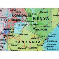 Map Marketing Giant World Political Laminated Map GWLD