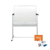 Nobo Mobile Steel Magnetic Horizontal Whiteboard 900x1200mm 1901029