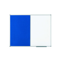 Nobo Drywipe and Felt Combination Board 900x600mm Blue 1902257