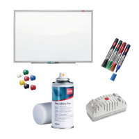 Nobo Nano Clean Steel 1200x900mm with Free Drywipe Markers Deepclene Eraser and Pins NB810084