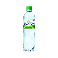 Buxton Sparkling Mineral Water 50cl Plastic Bottles (Pack of 24) 12120791