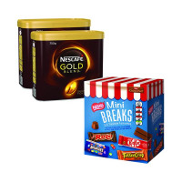 Nescafe Gold Blend 2x750g FOC Mini Breaks Mixed Selection (Pack of 24) NL819842