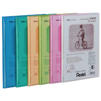 Pentel Recycology Clear A4 Display Book 20 Pocket Assorted (Pack of 5) DCF242/MIX
