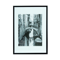Photo Album Company Black A4 Back Loading Certificate Frame A4MARBLK-NG